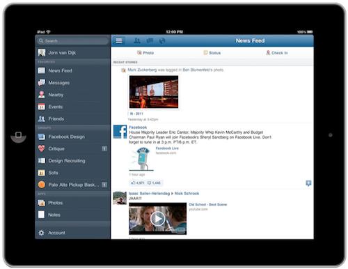 Facebook Launch iPad