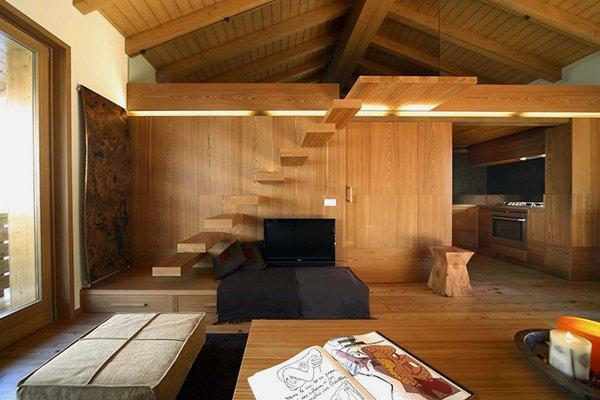 Amazing Cozy Apartment Interior Design Whole Wooden Elements