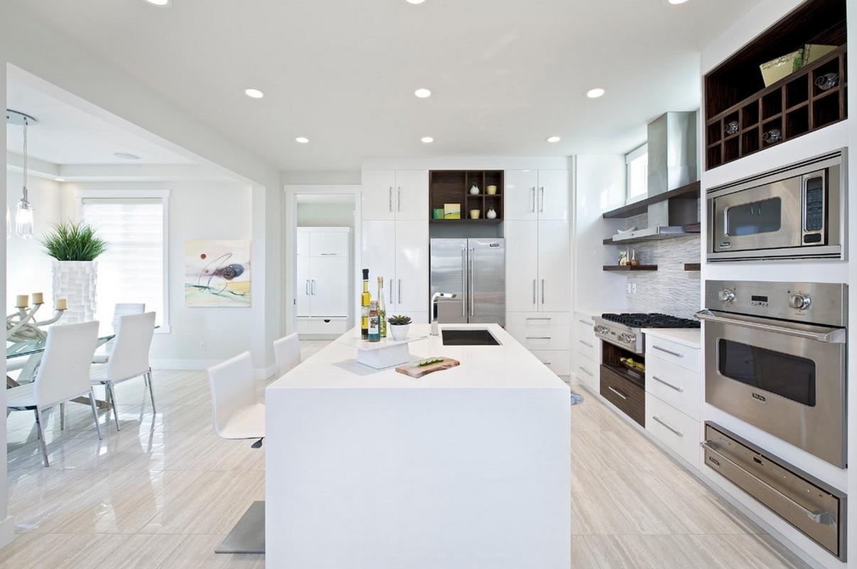 Stylish White Wooden Kitchen Design Ideas for Luxury Home - Joy Enjoys